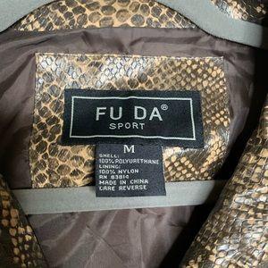 FU DA Jackets & Coats - FU DA Faux Snake Skin Jacket Size M